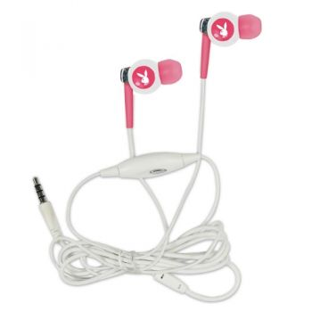 Playboy 3,5mm Stereo In-Ear Headset - Universal  Weiß/Pink