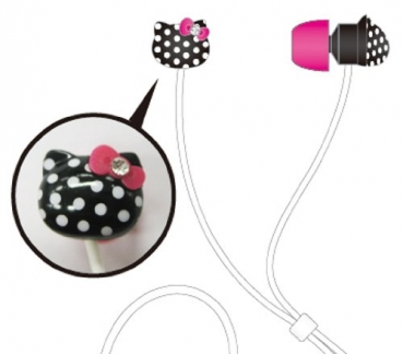 Hello-Kitty universal Stereo-Headset (3,5mm Klinke) schwarz