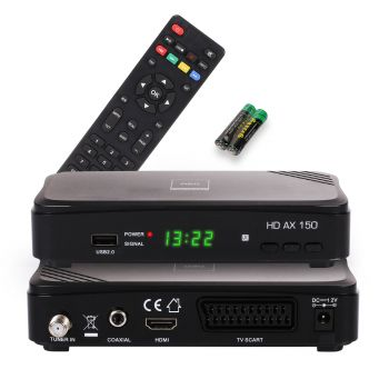 Digital HD Receiver OPTICUM AX150 230/12V HDMI USB Easy Find SCR