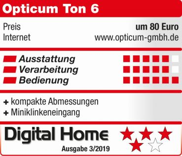 Opticum Red Ton-6 Internet/FM WLAN Radio (weiß)