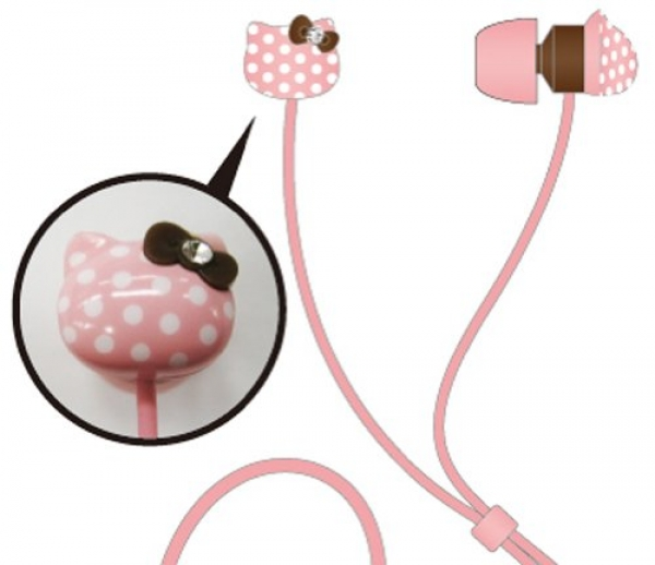 Hello-Kitty universal Stereo-Headset (3,5mm Klinke) pink