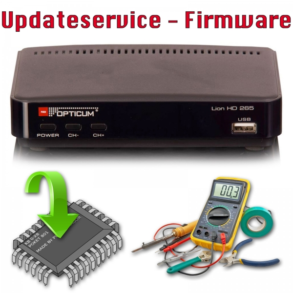 Updateservice - Opticum LION HD 265 Plus DVB-T2 mit PVR