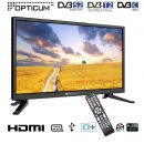 "LED-TV OPTICUM Travel TV 24"",12/24V, 230 V,61 cm CI+ S2/T2/C"