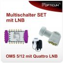 Opticum Multischalter OMS 5/12p mit Quattro LNB